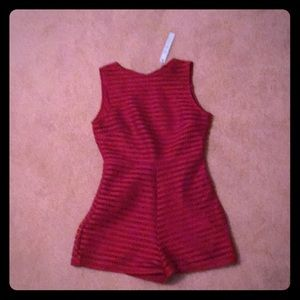 Red She + Sky Jumper Small NWT Slip Underneath